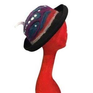 Accessories - Hand Made Felted Wool Felt Funky Fun Hat
